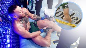 Жуткая травма! Конор Макгрегор сломал ногу: Порье выиграл трилогию техническим нокаутом! Как это было
