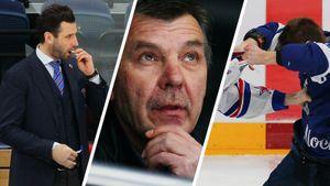 Травмированного Ротенберга угостили жвачкой, Знарок наблюдал сверху, хоккеисты ярко дрались. «Динамо» — СКА: фото