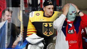Агрессивный фанат замахивался навратаря, натрибунах зажигал фантомас. Фото матча Чехия— Германия