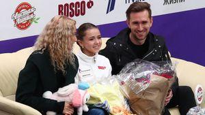 Валиева выступила на показательных на Гран-при России под композицию Muse, чисто прыгнув четверной тулуп: видео