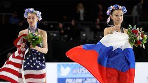 Золото Навки под флагом СССР, последняя медаль Семенович, квады Щербаковой. Русские фигуристы на Skate America