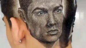 Фанат Роналду сделал прическу с портретом Криштиану