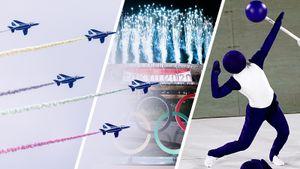 Истребители, человек-пиктограмма, необычные наряды атлетов. Фото самой странной церемонии открытия Олимпиады