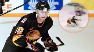Знаменитый гол русского хоккеиста Буре. Он пробежал через весь лед и разобрался с великим защитником Лидстремом
