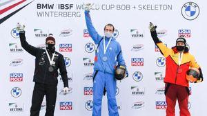 Русский скелетонист Третьяков спустя 14 лет вновь чемпион Европы. До него 11 раз подряд золото брал латвиец Дукурс