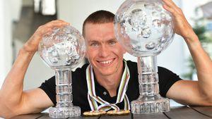 Русский лыжник Большунов — официально лучший в мире. Ему вручили Большой хрустальный глобус