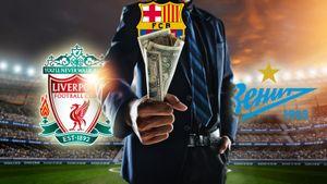 «Барселона»— первая, «Ливерпуль»— лишь седьмой, «Зенит»— 28-й. Кто сколько зарабатывает вфутболе