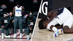 Американский баскетболист Айзек отказался преклонять колено во время гимна. Через два дня он порвал «кресты»