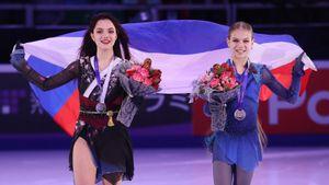 «Отдайте ееуже вмужики». Что пишут хейтеры оТрусовой иМедведевой после Гран-при вМоскве