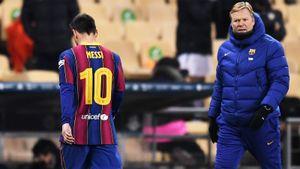 Месси психанул в Суперкубке Испании. Ударил соперника по голове и получил первую красную карточку в «Барселоне»