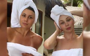 Туктамышева выложила фото с пляжа в полотенце на голое тело: «Принимаем пасмурные ванны»