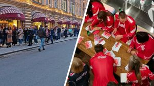 Автограф-сессия Большунова и сборной в ГУМе: в огромной очереди критиковали норвежцев и вспоминали Медведеву