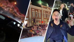 Что творилось в Омске после победы «Авангарда». Люди залезали на машины, запускали салюты, вспоминали Черепанова