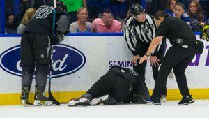 Канадский хулиган впечатал русского хоккеиста головой встекло. Жуткое видео изНХЛ