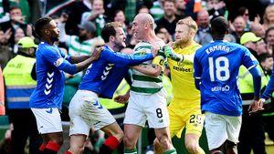 Главного костолома Шотландии весь матч избивали игроки «Рейнджерс». Его реакция бесценна