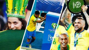 Бразильцы атаковали кабину видеоповторов, истерили и праздновали победу на Кубке Америки: фото