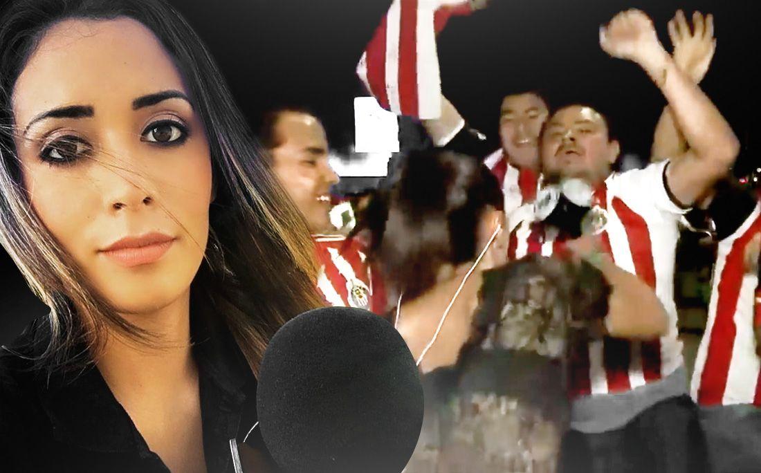 Журналистка ударила микрофоном поклонника, щупавшего еевэфире