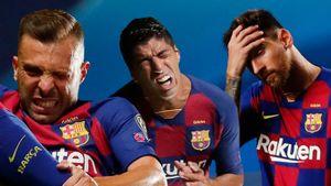 Как «Бавария» издевалась над «Барселоной» в четвертьфинале Лиги чемпионов: главные фото исторического разгрома