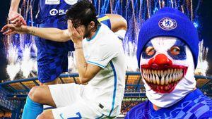 Фанаты выпивали и выбегали на поле, Азмуна били по лицу, Дзюба упустил момент. «Челси»— «Зенит»: фото