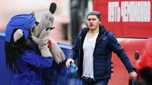 Капризов вооружился шлепками, чирлидерша и конь восхищались друг другом. Фото матча ЦСКА — СКА