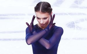 Щербакова выступила на открытии этапа юниорского Гран-при в Красноярске
