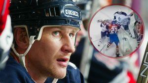 Разбил лицо и уложил на лед одним ударом. Как русский хоккеист Ковалев атаковал локтем канадца Такера: видео