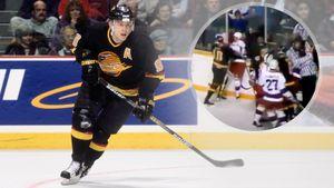 Драка советского хоккеиста Буре в НХЛ. Он лишился «телохранителя» Оджика, этим воспользовался канадец Сайкс