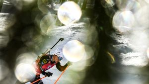 Экхофф победила в спринте на этапе Кубка мира в Чехии. Россиянки не вошли в топ-10