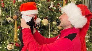 Плющенко опубликовал милые новогодние фото с трехмесячным сыном