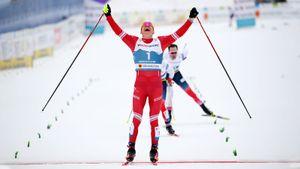 Большунов выиграл масс-старт классическим стилем на этапе Кубка мира в Энгадине