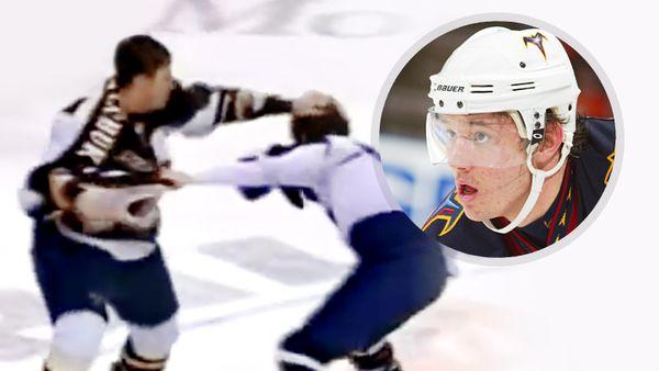 Избил хулигана за30 секунд. 19-летний Ковальчук наказал канадца Комри зазамер клюшки игрязную игру