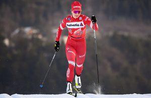 Наталья Непряева финишировала 6-й вспринте на«Тур деСки». Норвежка Якобсен сбила еесног