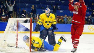 Сенсационный гол Копатя на Олимпиаде. Он забил шведам с середины площадки, затащив Белоруссию в полуфинал