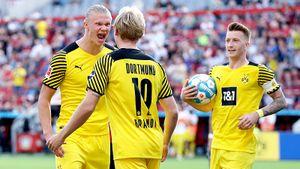 Дубль Холанда помог «Боруссии» обыграть «Байер» в результативном матче Бундеслиги