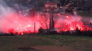 Фанаты «Марселя» ворвались на клубную базу и устроили пожар. Один из футболистов ранен
