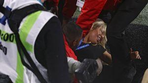 Девушка пыталась прорваться на поле во время Супербоула. Ее арестовали