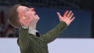 У фигуриста Майорова во время выступления на чемпионате Европы пошла кровь