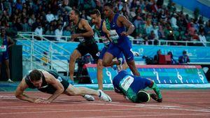 «Это был драматичный забег». Шубенков выиграл встиле Супермена, нополучил травму