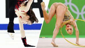 Что общего у фигурки и художественной гимнастики? Похожие элементы двух самых артистичных видов спорта