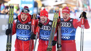 Русские лыжники заняли весь подиум впоследний день года. Устюгов— новый лидер «Тур деСки»
