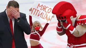 Красавица-чирлидерша поднимала провокационный плакат, у тренера «Спартака» не было сил смотреть на разгром: фото