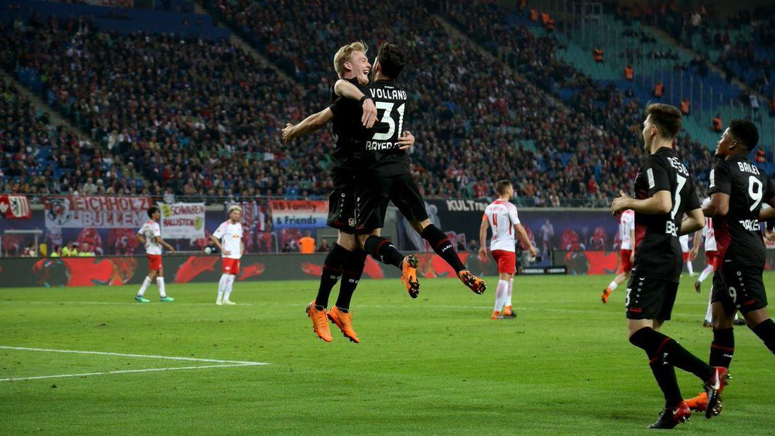 «Байер» разгромил «РБЛейпциг» вчемпионате Германии пофутболу