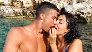 Невеста Роналду опубликовала пикантное фото в нижнем белье на свежем воздухе