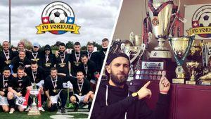Клуб мигрантов из России и Украины стал чемпионом Канады. ФК «Воркута» из Торонто, на эмблеме — колючая проволока
