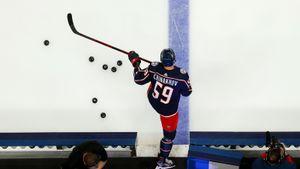 Лучший новичок КХЛ дебютировал в НХЛ! Чинахов был близок к голу, но в итоге упустил шведского вундеркинда