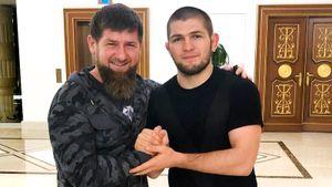 «Не видел, чтобы он выступал с флагом России». Кадыров обсудил чемпионство Хабиба и позвал его драться в «Ахмат»