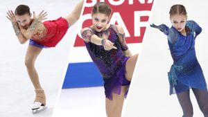 Щербакова— двукратная чемпионка России, Косторная— 2-я. Трусова— 3-я. Как это было