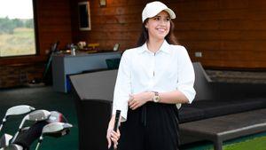 Загитова на день стала гольфисткой: «В будущем я тоже начну играть в гольф, потому что сейчас поймала огонек»