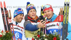 У России первая медаль на лыжном ЧМ. Год назад этого парня МОК не пустил на Олимпиаду