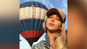 «Встретили красивый рассвет». Фигуристы Синицина и Кацалапов полетали на воздушном шаре: видео